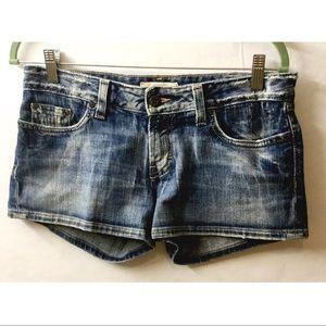 BKE Denim Star Stretch Distressed Shorts